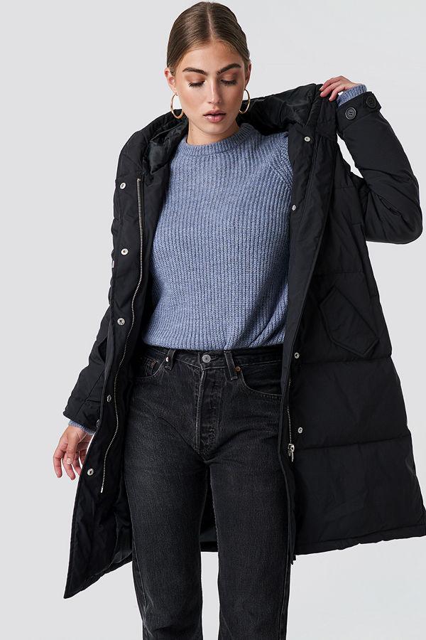 Rut & Circle Padded Hood Jacket svart