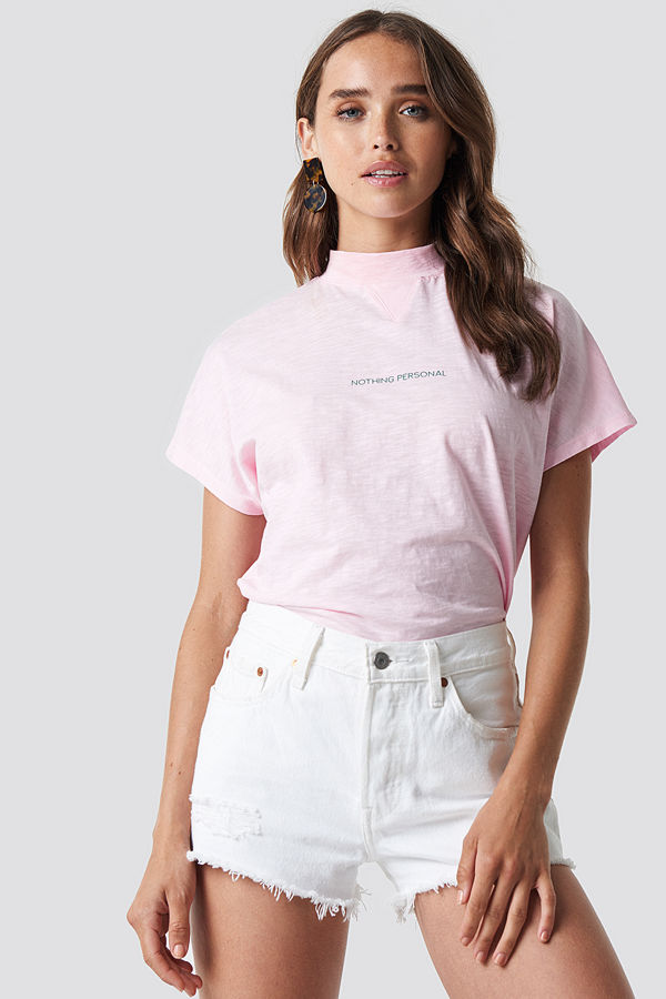 NA-KD Trend Nothing Personal Cap Sleeve Top