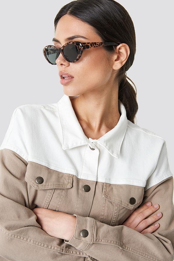 NA-KD Accessories Rounded Cateye Sunglasses - Solglasögon