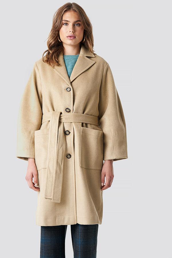Trendyol Camel Button Detailed Coat - Kappor