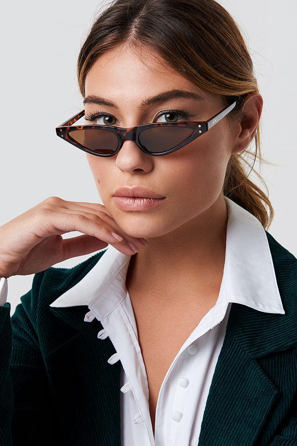 NA-KD Accessories Small Cat Eye Sunglasses - Solglasögon