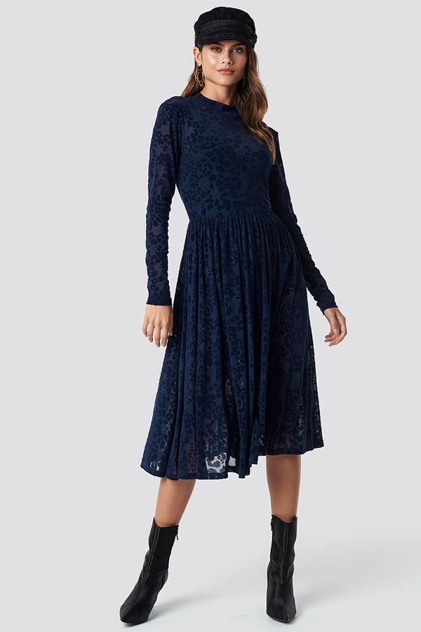 Rut & Circle Burnout Velvet Dress - Festklänningar