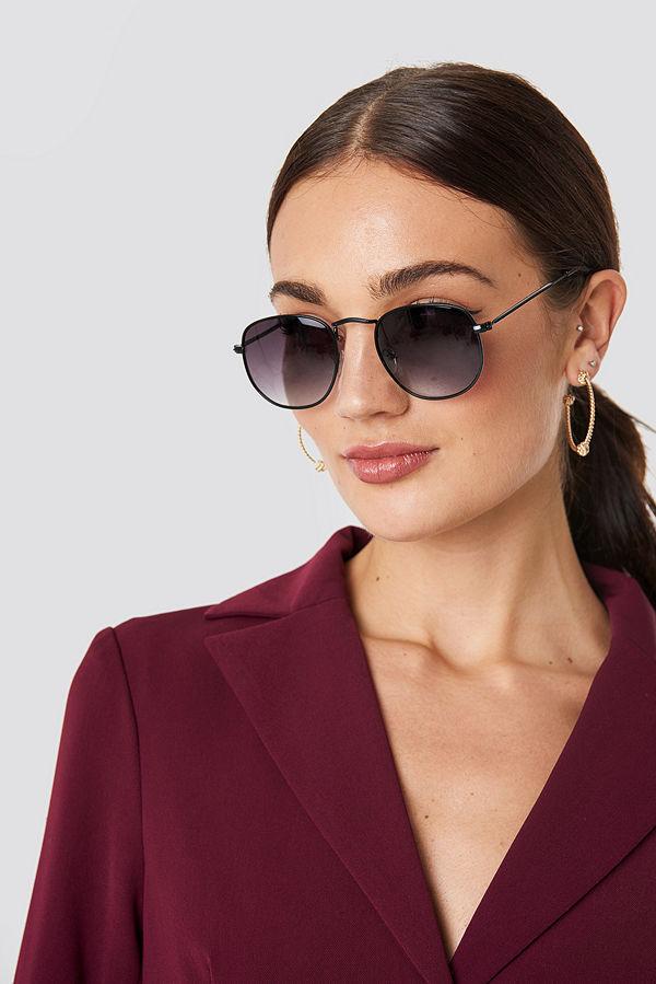 NA-KD Accessories Rounded Square Sunglasses - Solglasögon