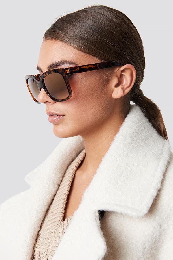 Luisa Lion x NA-KD Top Studded Sunglasses - Solglasögon