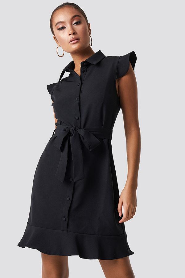Trendyol Tofa Binding Detail Dress svart
