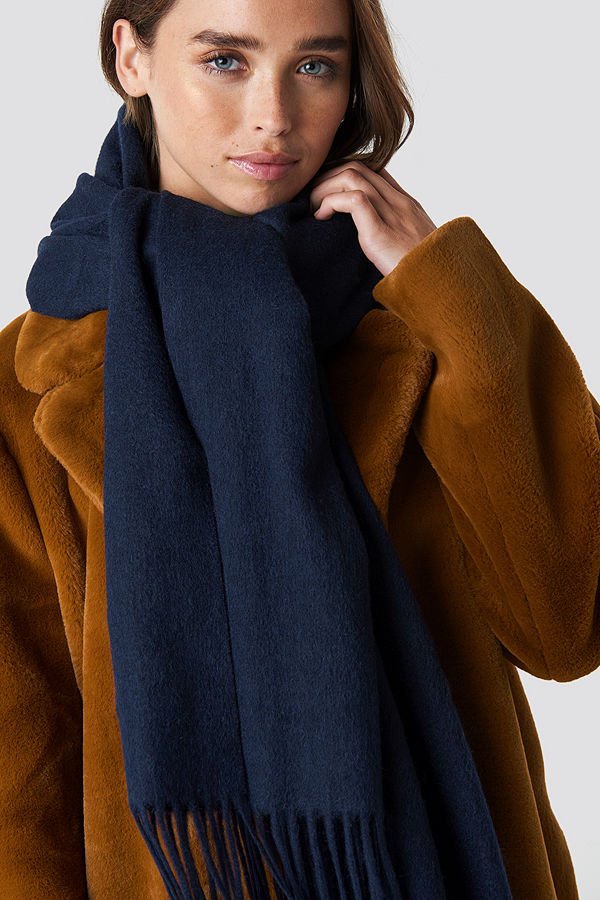 NA-KD Accessories Wool Blend Scarf blå