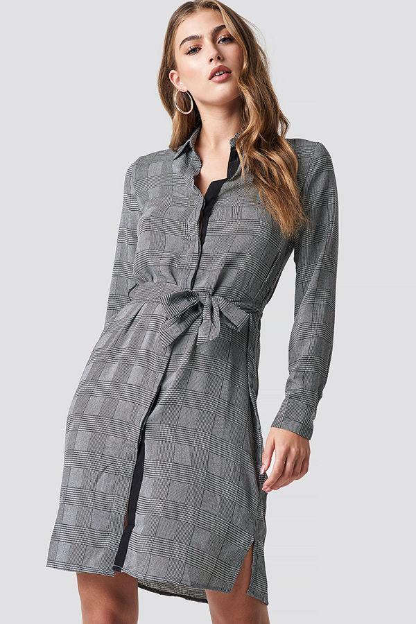 Mango Country Dress grå