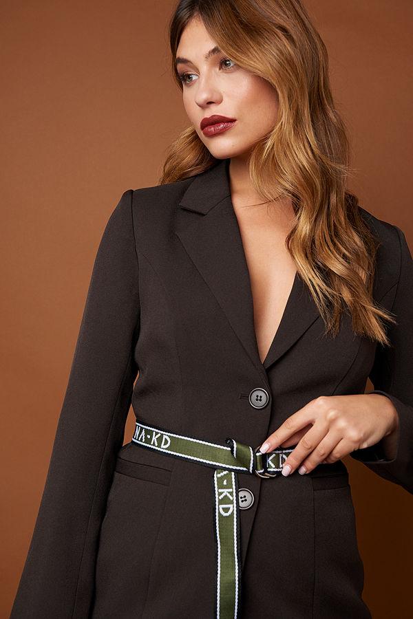 NA-KD Accessories Slim NA-KD Woven Belt - Bälten och skärp
