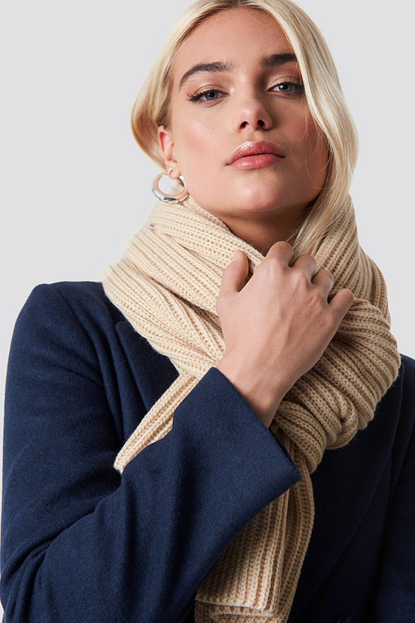 NA-KD Accessories Basic Knitted Scarf - Halsdukar & Sjalar
