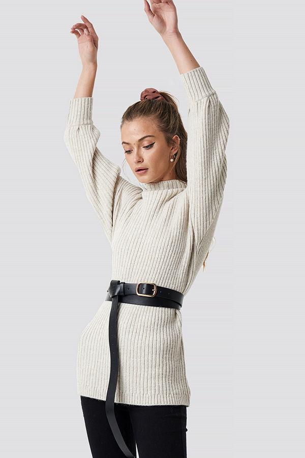 Camille Botten x NA-KD Double Layer Long Belt - Bälten och skärp
