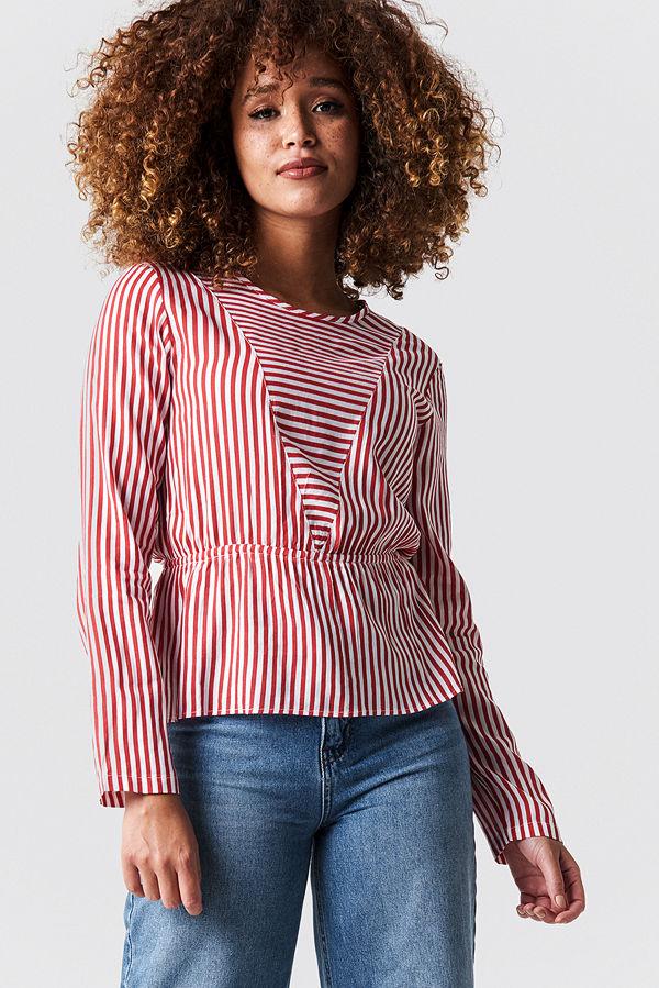 Rut & Circle Layla Stripe Blouse röd