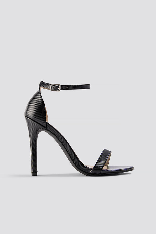 NA-KD Shoes Stiletto Sandal svart