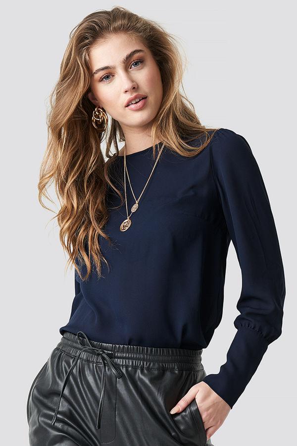 Trendyol Sleeve Detailed Blouse blå