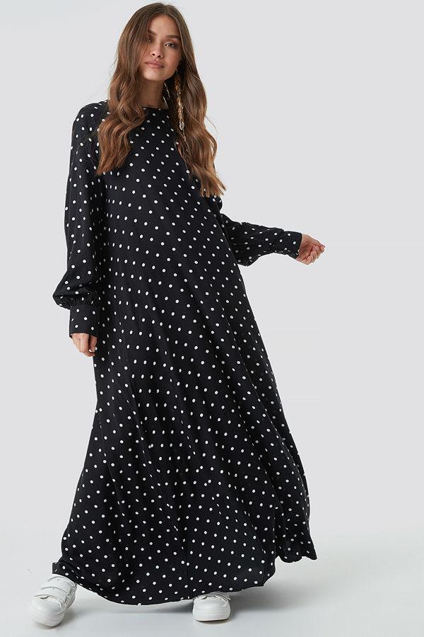 NA-KD Boho Smock Maxi Dress - Långklänningar