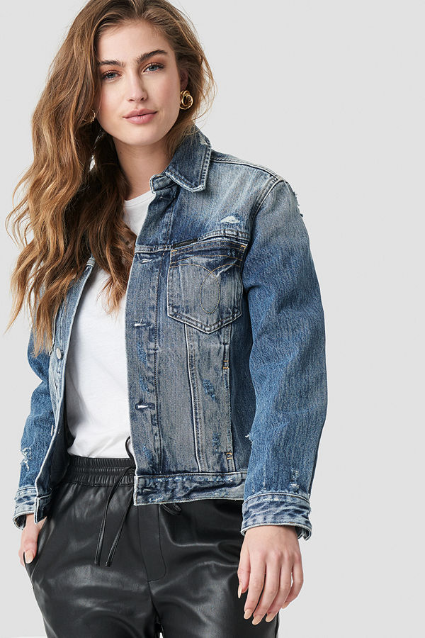 Calvin Klein Foundation Omega Trucker Jacket blå