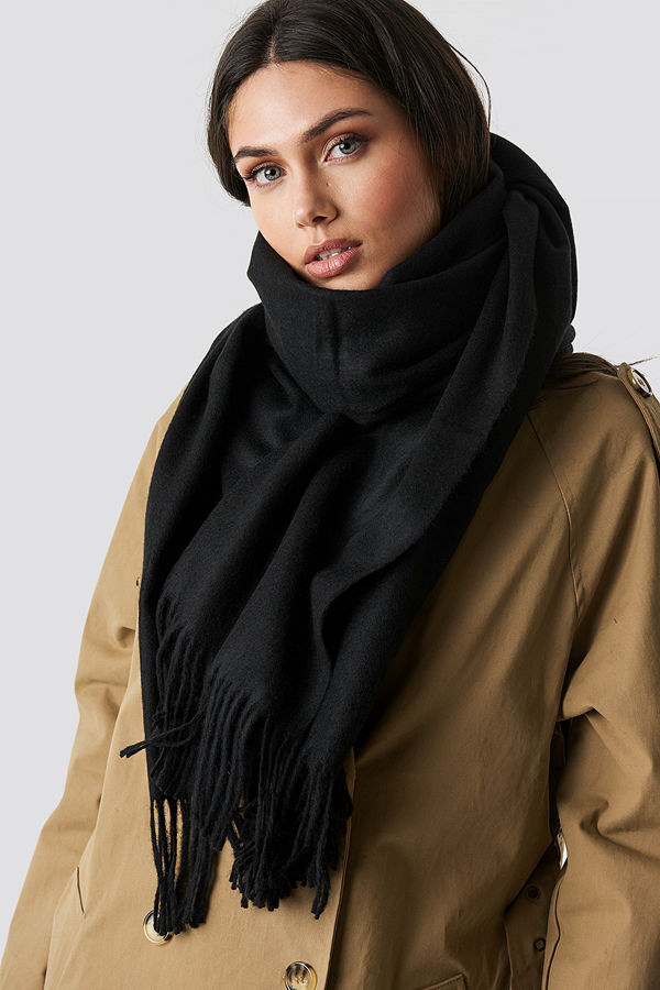 NA-KD Accessories Light Wool Blend Scarf - Halsdukar & Sjalar