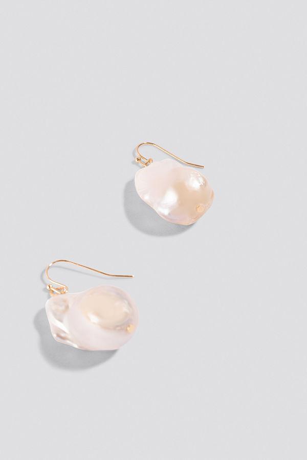 NA-KD Boho Oversized Fresh Water Pearls Earrings - Smycken