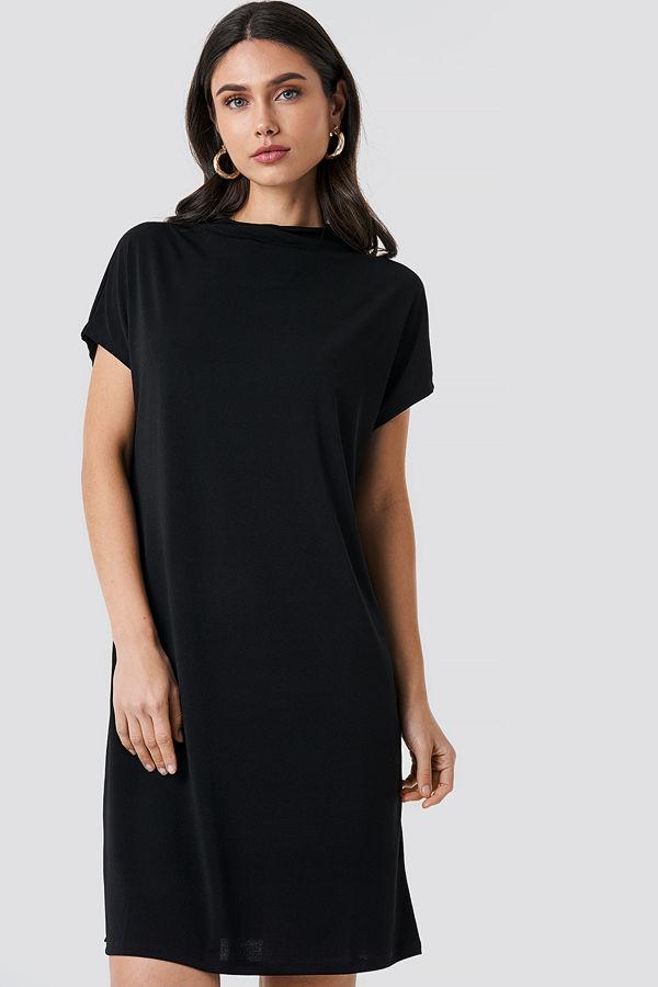 NA-KD Jersey Cap Sleeve Dress svart