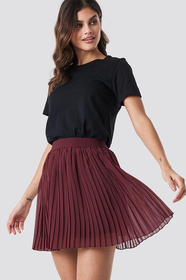 NA-KD Mini Pleated Skirt röd