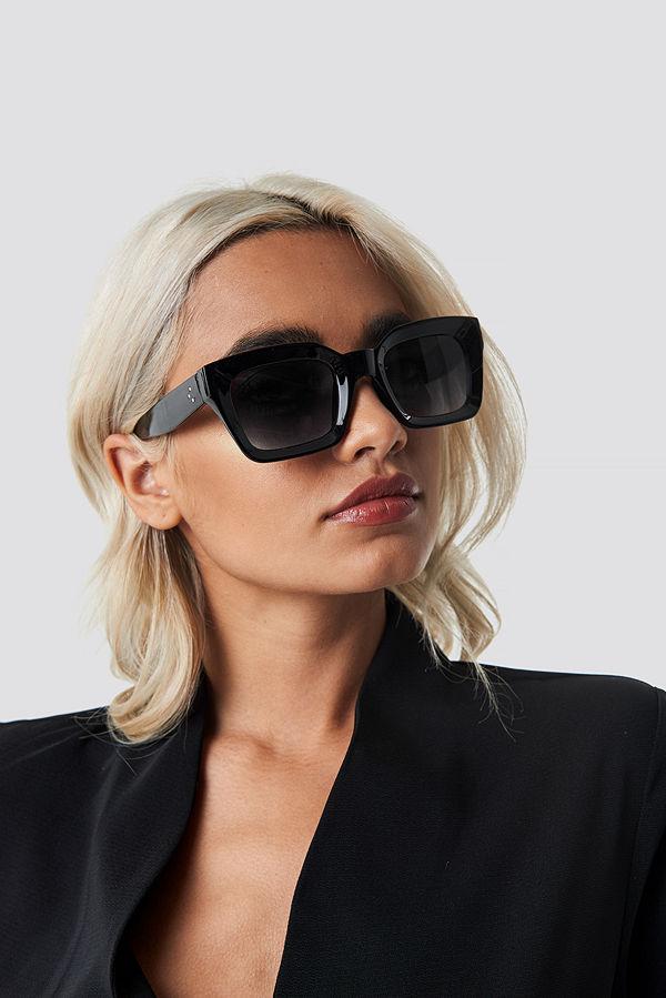 NA-KD Accessories Square Frame Sunglasses svart