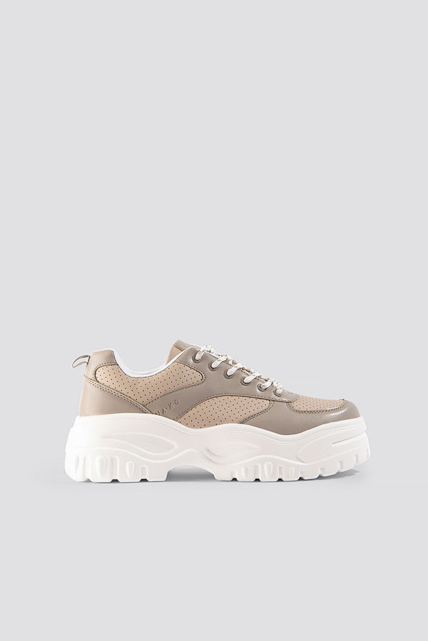 NA-KD Shoes Profile Sole Sneakers beige