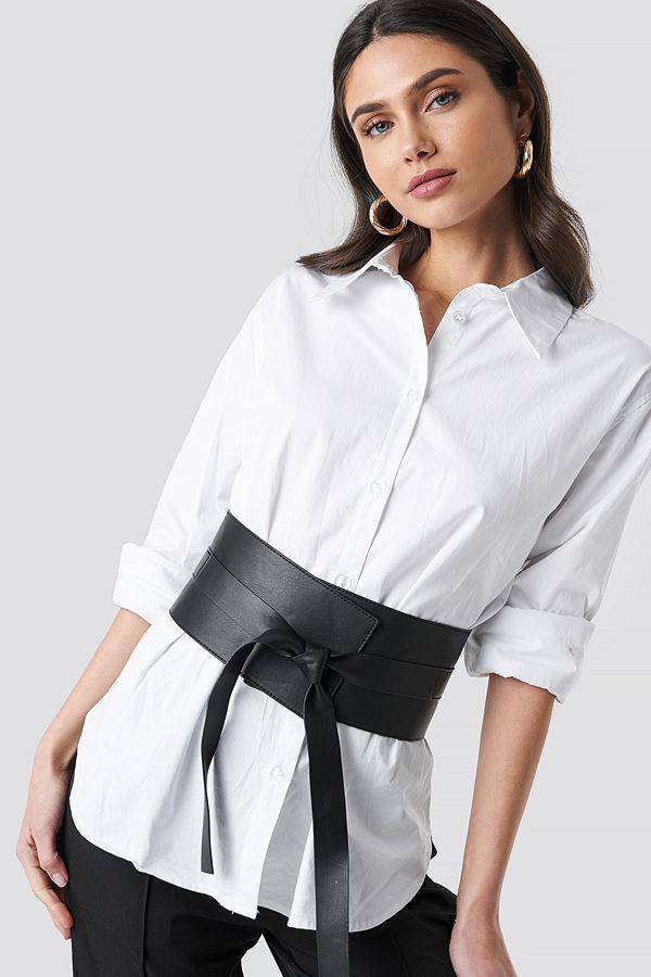 NA-KD Accessories Front Knot Waist Belt svart