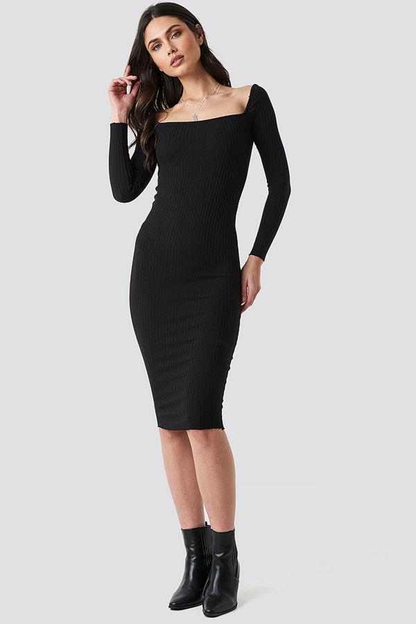 Beyyoglu Square Dress svart