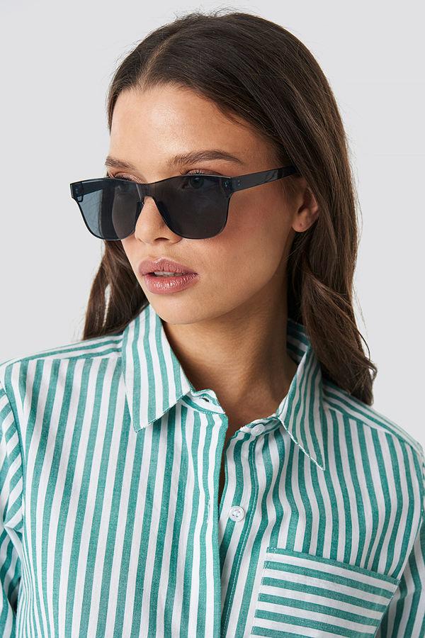 NA-KD Accessories Square Monolens Sunglasses svart