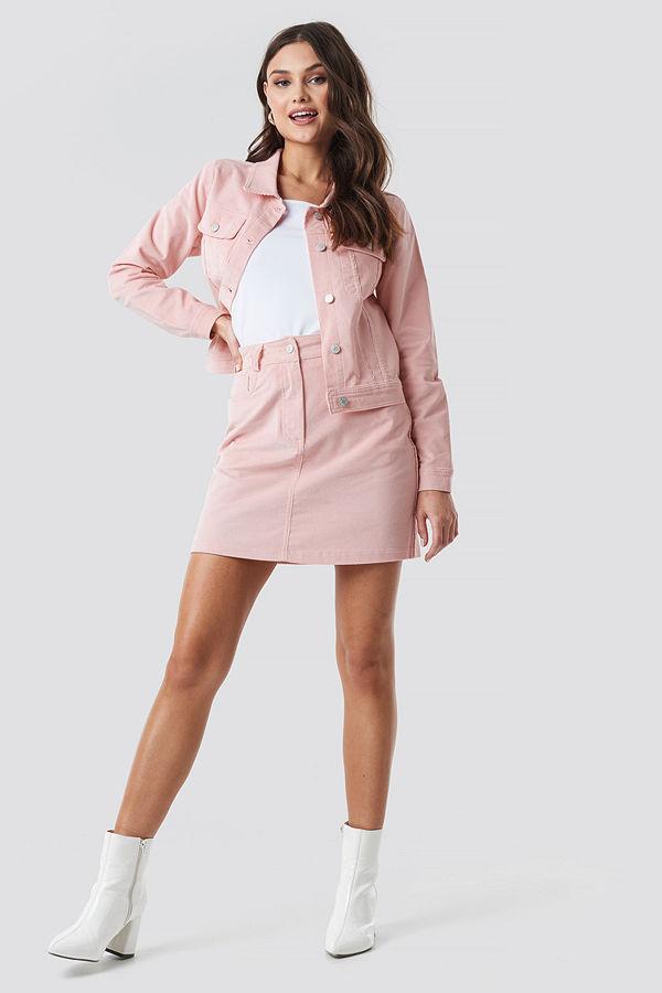 NA-KD Co-ord Corduroy Mini Skirt rosa
