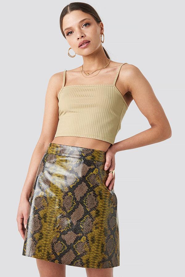 NA-KD Trend Snake Printed A Line Mini Skirt multicolor