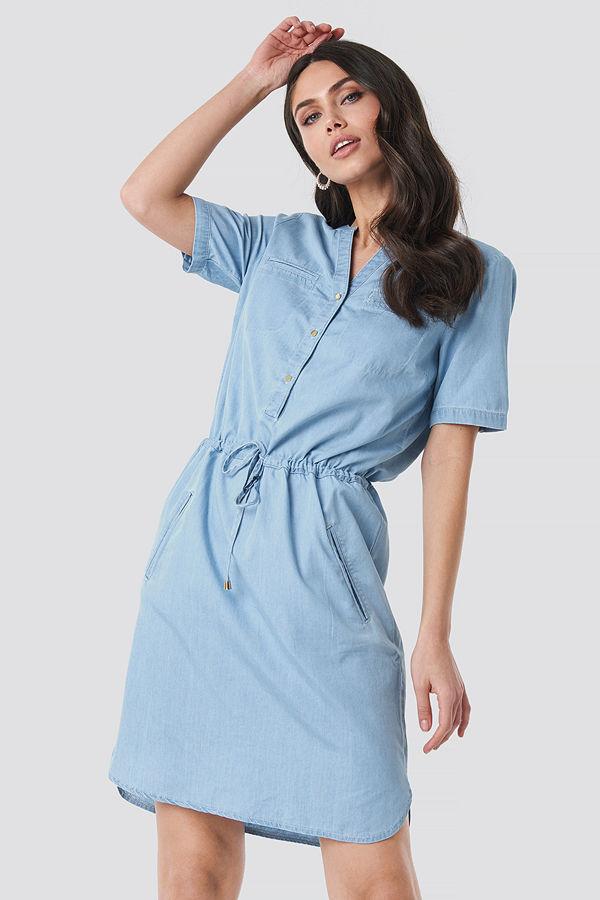 Trendyol Bound Pocket Denim Dress blå