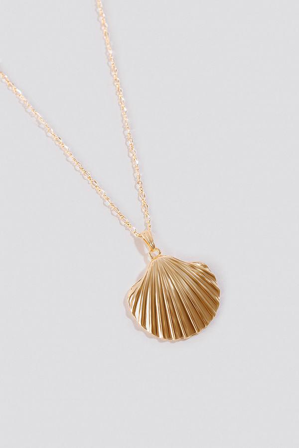 NA-KD Accessories smycke Big Shell Necklace guld