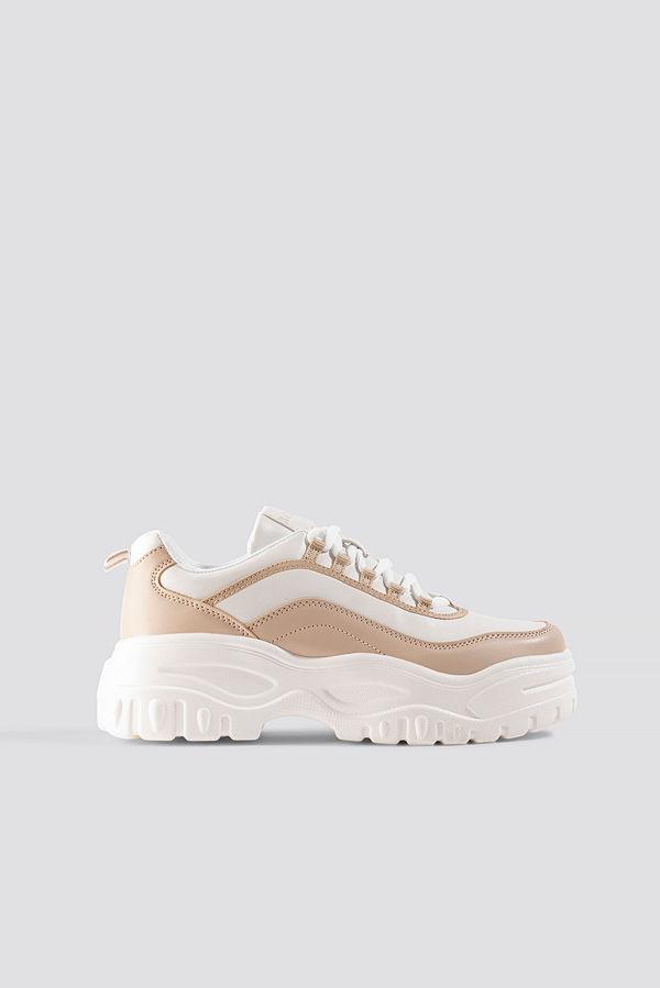 NA-KD Shoes Chunky Sole Sneakers vit beige