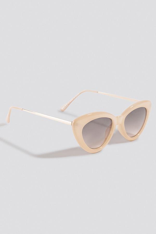 NA-KD Accessories Retro Cat Eye Sunglasses nude