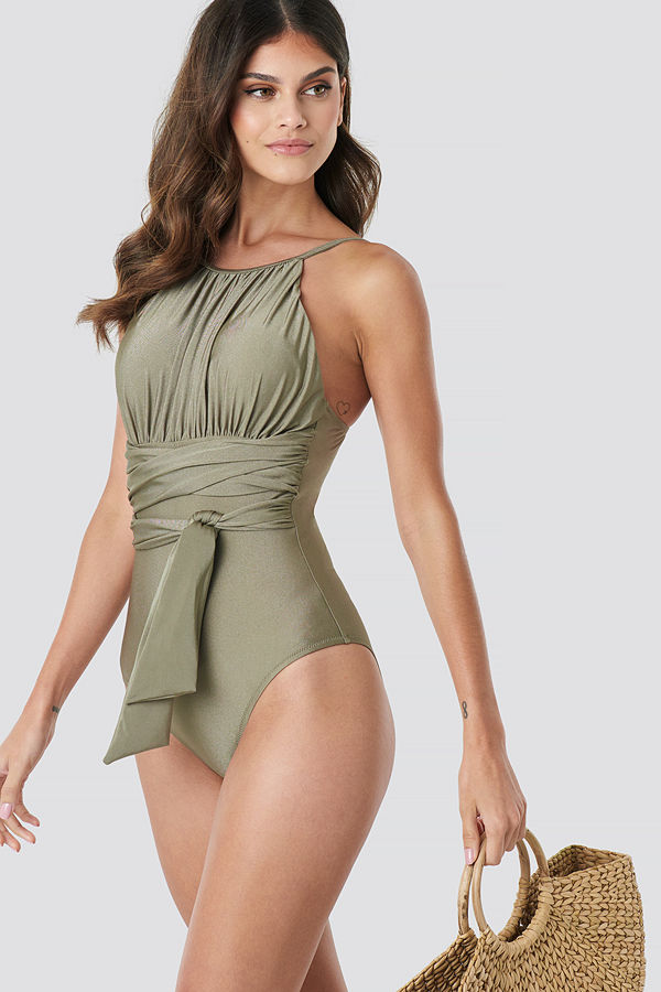 Trendyol Wrap Around Swimsuit grön
