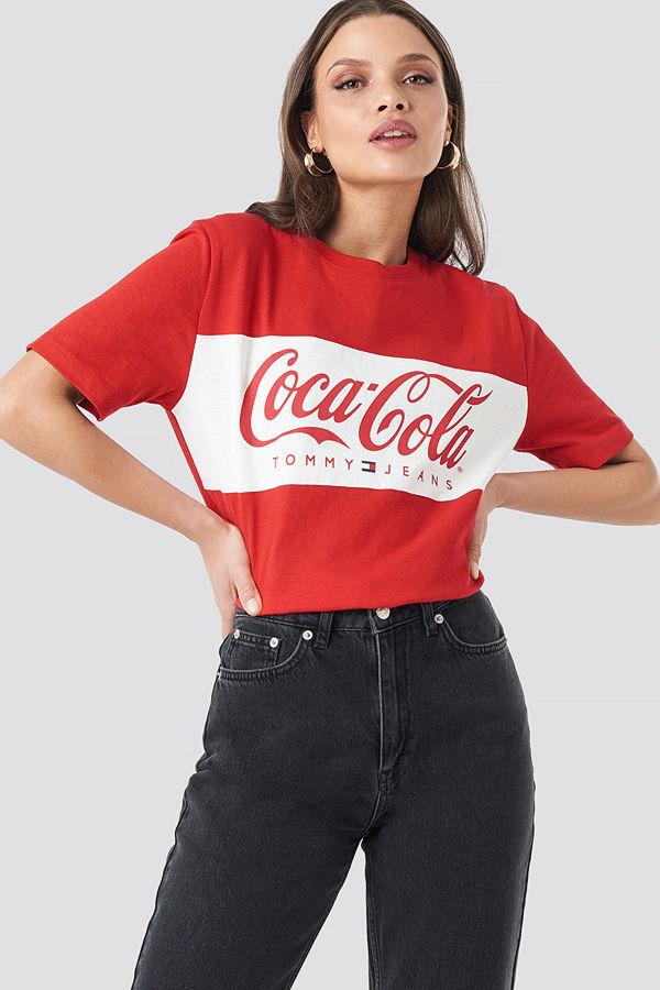 Tommy Jeans Tommy x Coca Cola Tee röd
