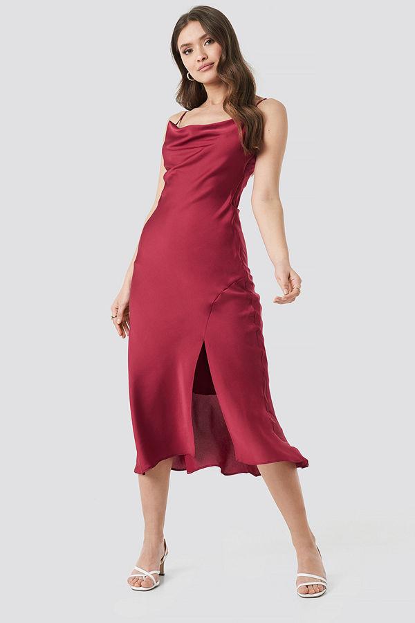 Trendyol Thin Strap Midi Dress röd