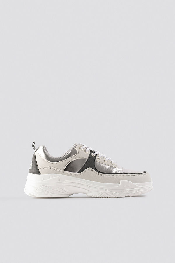 NA-KD Shoes Aero Sneaker multicolor / silver