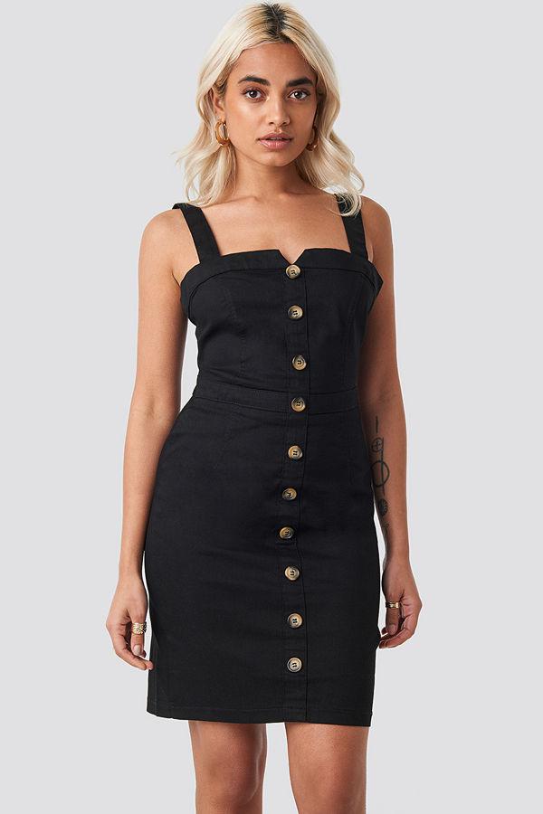 Trendyol Gabardian Mini Dress svart