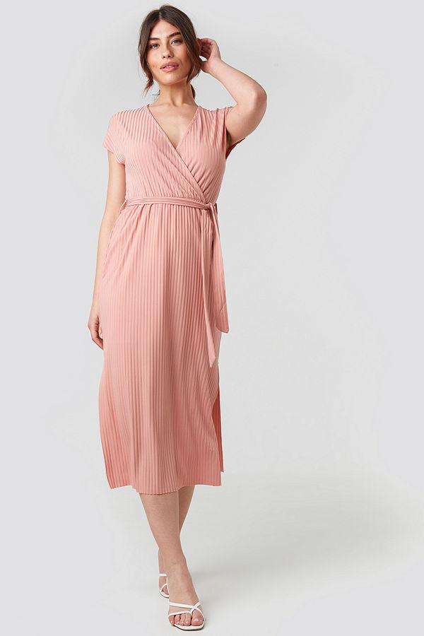 Trendyol Belt Detailed Midi Dress rosa