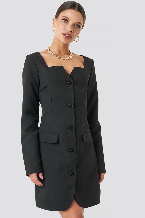 NA-KD Trend Fitted Blazer Dress svart