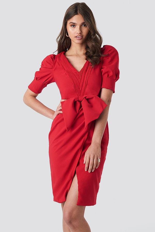 Trendyol Bow Detailed Dress röd