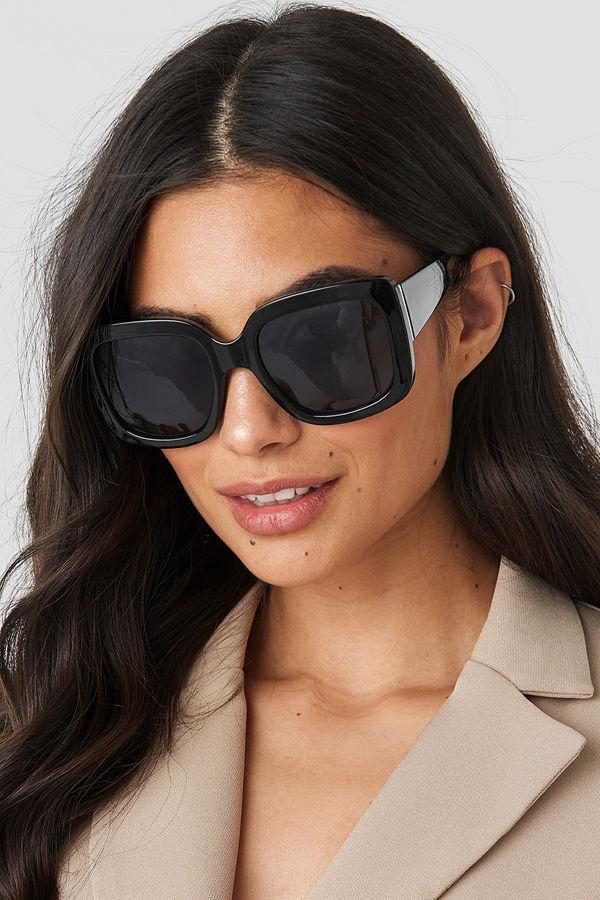 NA-KD Accessories Big Squared Sunglasses svart