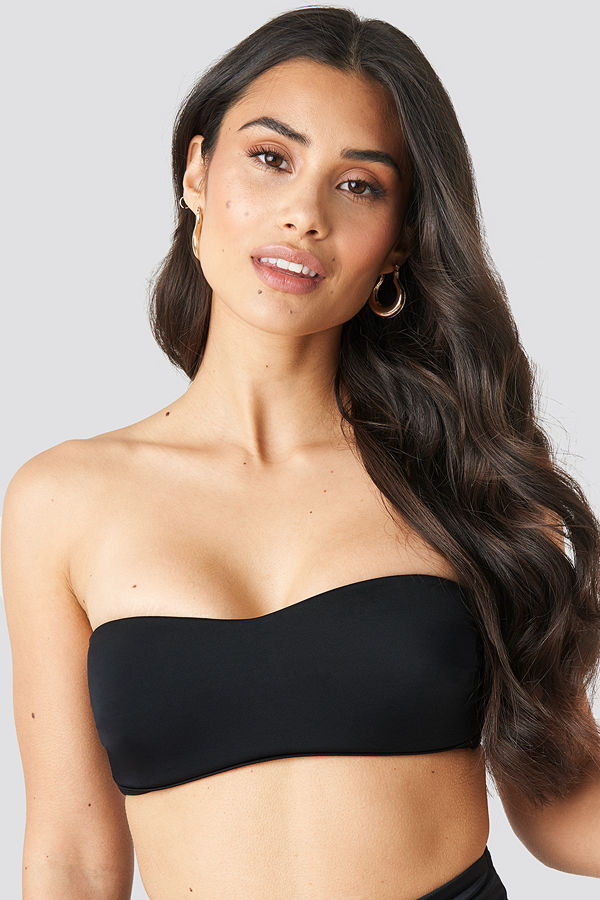 Trendyol Strapless Bikini Top svart