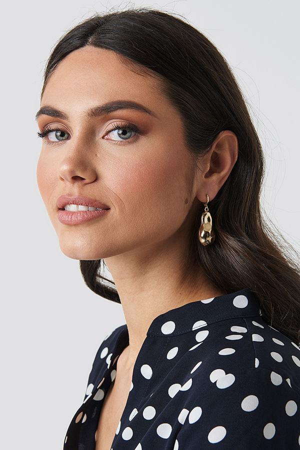 NA-KD Accessories smycke Big Golden Pearl Earrings guld