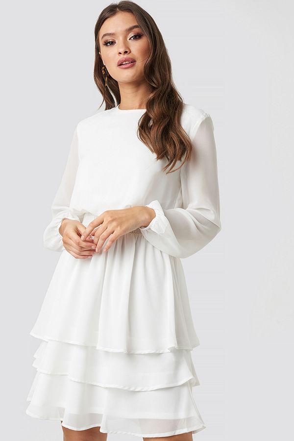 Sisters Point Nicoline Ls A Dress vit
