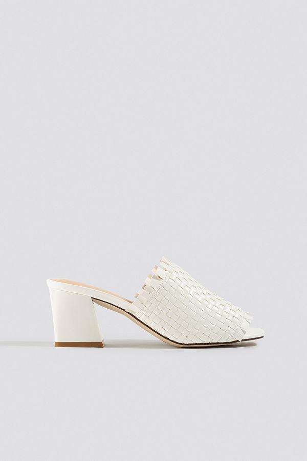 NA-KD Shoes Braided Upper Mules vit