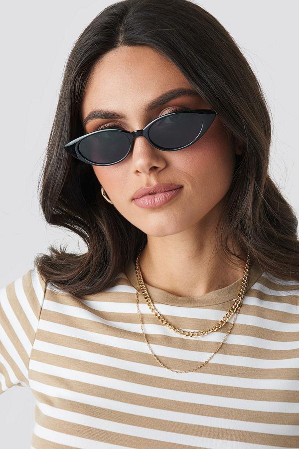 NA-KD Accessories Drop Shape Cat Eye Sunglasses svart
