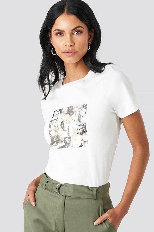 NA-KD Collage T-shirt vit