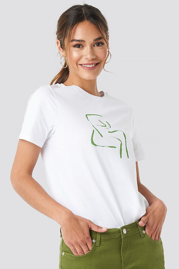 NA-KD Female Form T-shirt vit